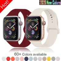ซิลิโคนอ่อนสำหรับ Apple Watch Series 6 5 4 3 2 SE 38มม.42มม.สายหนังสำหรับ IWatch 6/5 40มม.44มม.