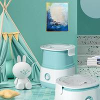 免運快出 110v-250V小型嬰兒童內衣褲洗脫一體單桶家用半全自動摺疊洗衣機 秋季新品