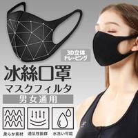 【Saikoyen】可水洗防曬立體冰絲口罩1組4入(防塵口罩 防曬 冰絲 口罩 立體口罩 防霧霾 防霧氣)