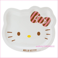 asdfkitty可愛家☆KITTY 大瓷盤-造型陶瓷盤/早餐盤/簡餐盤/下午茶點心盤-日本製