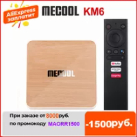 Mecool KM6 Deluxe TV Box ATV Android 10 Amlogic S905X4 AndroidTV 10.0 Google Certified Dual WiFi 6 1000M 4GB 64GB Media Player