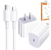 原廠蘋果APPLE正品20W旅充頭+MiFi品質iPhone 充電線 Type-C to Lightning PD18W快充線 適用於iPhone 12系列