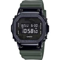 【CASIO 卡西歐】G-SHOCK 超人氣軍事迷彩手錶-軍綠(GM-5600B-3)
