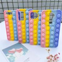 Pop Push It Bubble Fidget Toys Case untuk OPPO A15 A15S A54 A53 A93 A12 A31 A9 2020 A5 2020 A5S A3S A59 A57 Reno 4F F5 F7 F9 F11