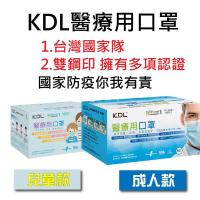 台灣現貨 KDL 肯德利 國家隊 雙鋼印 醫療口罩 (50片/盒)  【蝦皮團購】