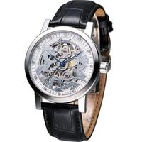 刷卡滿3千回饋5%點數|Ogival 愛其華 龍年典藏珍藏版機械錶(388-63AGS皮)銀色