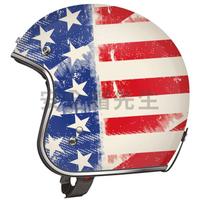 【安全帽先生】美國 TORC T50 彩繪 Old Glory 消光 哈雷 雙D扣 復古帽 半罩