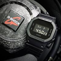 【CASIO 卡西歐】強悍極黑數位休閒錶(DW-5600BB-1)