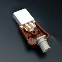 電鍋一字座平口三孔插頭 電炒鍋電源線插頭連接線 陶瓷插座