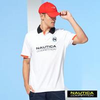【NAUTICA】COMPETITION男裝簡約LOGO舒適短袖POLO衫(白)