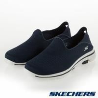 SKECHERS GOWALK 5 女鞋 休閒 健走 避震 後套設計 後踩鞋 回彈  藍【運動世界】15927NVY