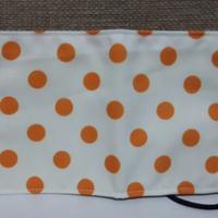 PUMPING 兒童 純棉五層平面口罩 - 橘色點點風