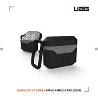 【UAG】AirPods Pro 耐衝擊硬式保護殼V2-黑灰(UAG)
