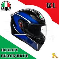 ~任我行騎士部品~AGV K1 亞洲版日規 單鏡片 全罩 安全帽 #QUALIFY BLACK BLUE