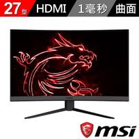 【MSI 微星】Optix MAG272C 27型 165Hz電競曲面螢幕