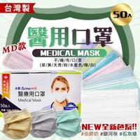 【永猷】MD雙鋼印成人醫用口罩 50入/盒(八盒)