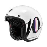 任我行騎士部品 Astone SP3 K127 十周年限定 3/4 復古帽 半罩 內墨片 388 輕量化 白黑