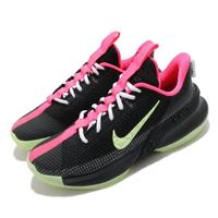 【NIKE 耐吉】籃球鞋 Ambassador XIII 運動 男鞋 明星款 LBJ 避震 包覆 夜光底 球鞋 黑 綠(CQ9329-001)