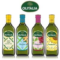 (老爹特惠)【奧利塔olitalia】純橄欖油+玄米油+葡萄籽油+葵花油(1000mlx4瓶-禮盒組)