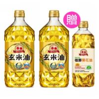 【泰山】玄米油1.5Lx2+植醇葵花油0.6Lx1(共3瓶)