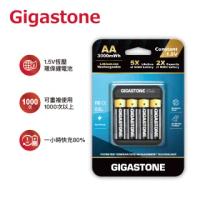 【Gigastone 立達國際】3號電池4入/AA恆壓可充式1.5V鋰電池+智控電池充電座LB-3300(充電電池/整組買最划算)