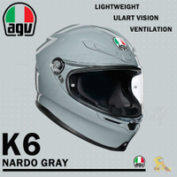 任我行騎士部品 AGV K6 極輕量化 通風 舒適 全新設計 全罩式安全帽 NARDO GRAY 水泥灰 K-6