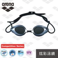 【arena】日本製 競賽款 防霧 炫彩鍍膜 泳鏡 防水 男女通用(AGL1900E)