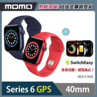 金屬錶殼組【Apple 蘋果】Apple Watch Series6(S6) GPS 40mm 鋁金屬錶殼搭配運動錶帶