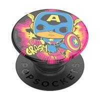【PopSockets 泡泡騷】時尚手機氣囊伸縮支架 二代 可替換 美國 No.1(FUNKO美國隊長)