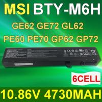 MSI 6芯 BTY-M6H 日系電芯 電池 MS-16J2 MS-16J3 MS-16J5L MS-16J6 MS-16J6B MS-16JB-SKU6 MS-1792 MS-1795 CX62 CX72 GE62 GE63 GE72 GE73 GF62  GF72 GL62 GL72 GP62 GP72 GV62 GV72  PE60 PE62 PE70 PE72 PL62 PL72 PX70  WE62 WE72