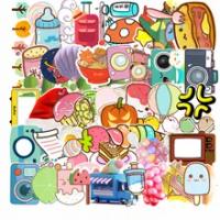 10/30/50PCS การ์ตูนน่ารักไอศกรีมสายรุ้ง Graffiti กระเป๋าเดินทางบัญชีสติกเกอร์ตกแต่งเด็กของเล่นขายส่ง