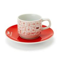 【震撼精品百貨】凱蒂貓_Hello Kitty~凱蒂貓 HELLO KITTY 陶瓷咖啡杯附盤 日本製#31018