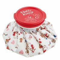 小禮堂 Hello Kitty 尼龍圓筒狀冰敷袋《白紅.拿鬆餅》冰墊.冰袋.冰枕
