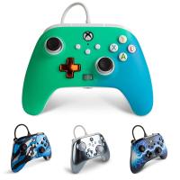 [2美國直購] PowerA 增強型 Xbox Series X|S 有線控制器 遊戲手把 金屬銀/閃電藍/迷彩藍/藍綠