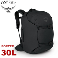 【OSPREY 美國 Porter 30 登山背包《黑》30L】雙肩包/旅行背包/電腦包/健行/自助旅行