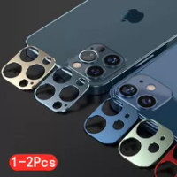 1-2Pc กล้องสำหรับ Apple Iphone 11 12 Pro สูงสุด Iphone12มินิสแตนเลสโลหะ Protector ฟิล์มด้านหลังป้องกันกรณี