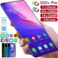 Galaxy S20 + สมาร์ทโฟน7.12นิ้ว8GB RAM 256GB ROM Snapdragon 855 Deca Core Android 10.0โทรศัพท์มือถือ Dual SIM โทรศัพท์มือถือในสต็อก