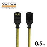 【Kordz】PRO CAT6 28AWG極細高速網路線(黃色0.5米)