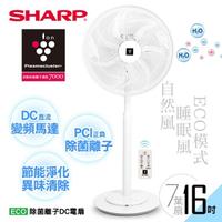 【SHARP 夏普】16吋自動除菌離子DC變頻立扇PJ-H16PGA