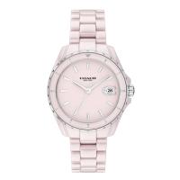 【COACH】優雅粉色陶瓷時尚腕錶33mm(14503806)