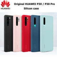Original Huawei P30 P30 Pro Case HUAWEI Official Liquid Silicone Protective Cover Microfiber Insided Huawei P 30 P 30Pro case