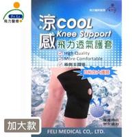 【Fe Li 飛力醫療】涼感透氣護膝-加大款