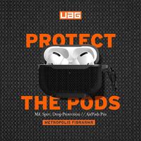 【新品】UAG AirPods Pro 耐衝擊防彈纖維保護殼(軍用黑) 台灣公司貨-桃園地區實體店面經銷商