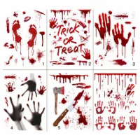 Halloween Bloody Stickers Scary Bloody Holiday Decorations Holiday Stickers Household Items