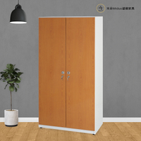 3尺雙人塑鋼衣櫃 置物櫃 防水塑鋼家具(附內鏡/鑰匙鎖)【米朵Miduo】