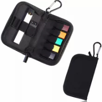 Carrying Case for JUUL Holds Juul Device Pods and Charger Wallet Size Easy to Carry with Metal Buckle