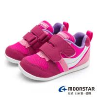 【MOONSTAR 月星】HI!!系列十大機能寶寶鞋(櫻桃粉)