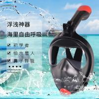 浮潛面罩 呼吸面具 潛水裝備浮潛三寶潛水面罩全臉近視防霧全干式呼吸管器成人兒童游泳鏡裝備