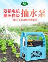 抽水機 電水泵 可移動便攜式家用戶外澆菜噴水器 充電式抽水泵 12v小型抽水機打藥