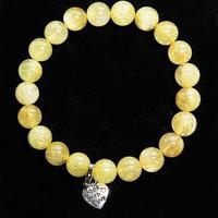 【A1寶石】雙倍吸金-頂級鈦晶、鈦金圓珠手鍊(挑戰最低價)